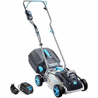 (kit) Swift 40V 32cm Cordless Battery Digital Compact Lawn Mower