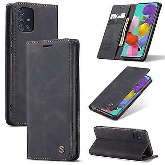 Retro Wallet Slim for Samsung A51 Black