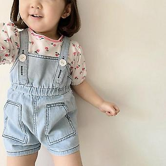 Jumpsuit Denim Summer Overalls Bebe Child Clothing