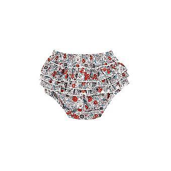 Ruffles lagdelt pp shorts baby bomull floral elastisk midje bukser