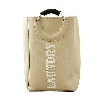 綿とリネン汚れた服のバスケットはアルミニウム合金のハンドルが付いている折り畳み式の貯蔵かご