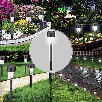 LED Solar Garden Lights Outdoor Solar Powered Lamp Lantern Waterproof Landscape Lighting For Pathway Patio Yard Lawn Decoration 12/10/8/6/4/2/1 Pcs