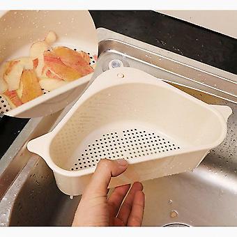 Køkkenvask Multifunktionel Opbevaring Rack Multi Formål Vask Skål Svamp