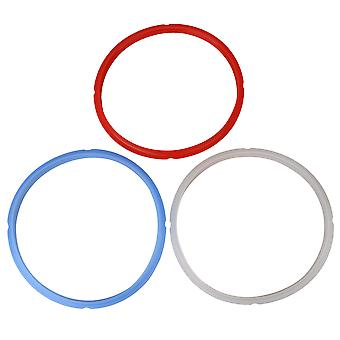 3 x Silicone Seal Ring Gaskets Replacement for Pressure Cooker 8Qt