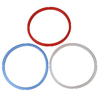 3 x Silikone Seal Ring Pakninger Udskiftning for Trykkoger 8Qt