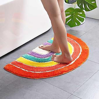 Ympäristöystävällinen puolimikroinen sateenkaari kylpyhuone pehmeä muhkea matto