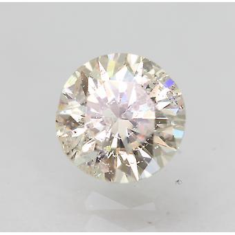 Certificado 0.78 Quilates I SI1 Redondo Brillante Diamante Suelto Natural Mejorado Mejorado 5.74mm