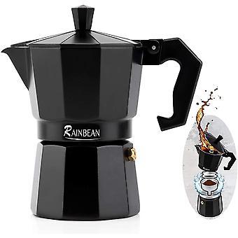 Gerui Espresso Maker, Italian Stove Top Coffee Maker Moka Pot 3 Cup, Electric Greca Cafetiera