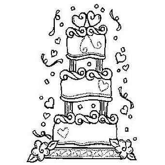 Bryllup Kake Tre Montert Stempel
