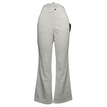 IMAN Global Chic Mujeres's Jeans Ilusión Denim Bootcut Blanco 734928100