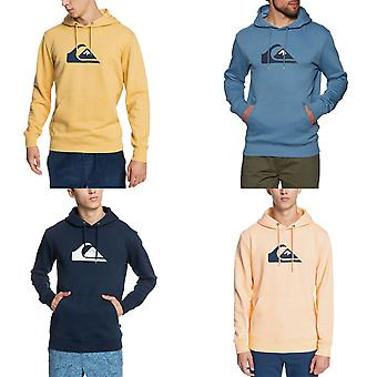 Quiksilver Mens Comp Logo Organic Casual Hooded Pullover Sweatshirt Hoodie