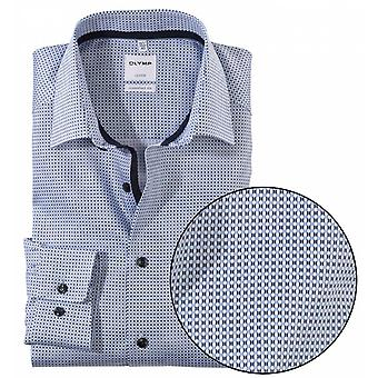 OLYMP Olymp Mens Big Size Comfort Fit Egyptian Cotton Fine Pattern Formal Shirt