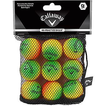 Callaway HX Soft Flight Practice Golf Balls - 9-Pack - Multicolore
