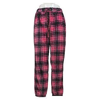 Muk Luks Women's Medium Textured Plush Novelty Pajama Bottom Pink A371041