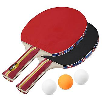 Long Handle Ping Pong Racket  Double sided Carbon