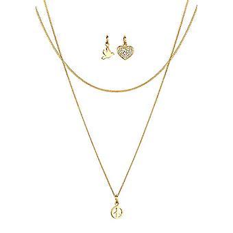 Elli halskæde med kvinders vedhæng i sølv 925 runde krystal