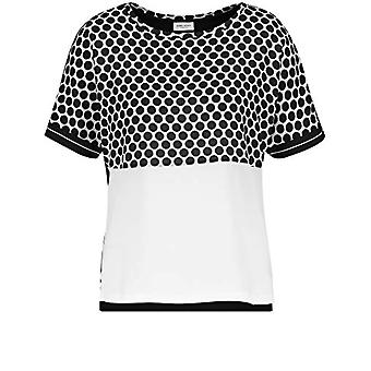 Gerry Weber 370233-35033 T-Shirt, Multicolored (Black Patch 1001), (Herstellergro and: 38) Woman
