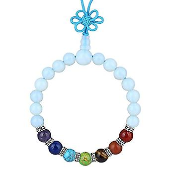 KYEYGWO 21 Mala Bracelet with Crystal Beads Chakra, unisex, Reiki Stretch and League, color: Opals (7 chakra stones with Ref. 0715444069222