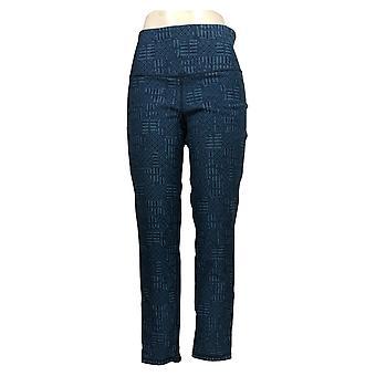 Kvinder med Kontrol Kvinder 's Jeans Stretch Reversibel Ankel Blå A366039