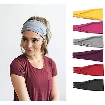FengChun Set von 6 Frauen Yoga Sport Stirnband, leichte Rutsch Wicking elastischen Sport Stirnband