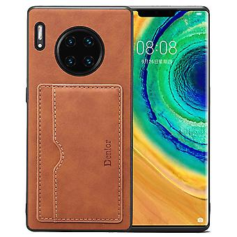Wallet leather case card slot for iphonex/xs retro brown on140