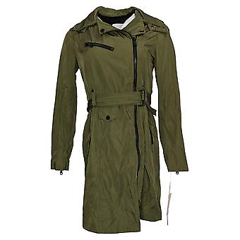 Avec Les Filles المرأة موتو معطف المطر الأخضر A432035