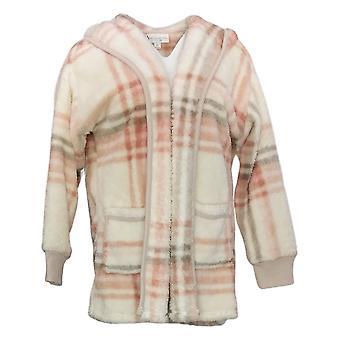 Koolaburra Przez UGG Damski Sweter Kudłaty Pluszowy Kardigan Rib Ivory A386142
