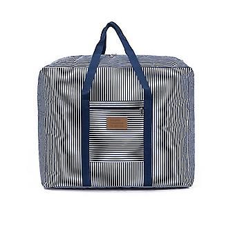 Striped Pattern Travel Luggage Bag Zipper Closet Organizer Box|Foldable Storage Bags