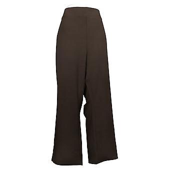 IMAN Global Chic Women's Pants Petite Slim Ponte Boot-Cut Brown 722609208