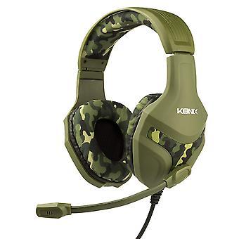 Konix Camo Multi - Herní sluchátka s mikrofonem