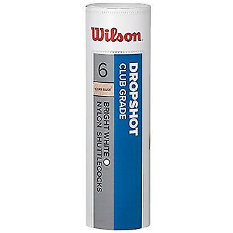 Wilson Dropshop Tube Shuttlecocks, weiß, Einheitsgröße, 6 Erpack