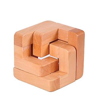 IQ Brain Teaser Kongming Luban Lock Dřevěná blokovací puzzle Dětská hra pro dospělé Hračka