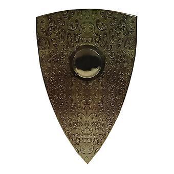 Bouclier de conception de chinoiserie médiévale en bois SWE146