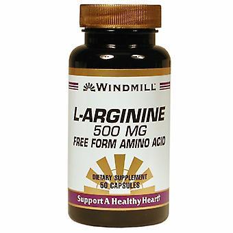 Windmill Health L-Arginine, 500 mg, 50 Caps