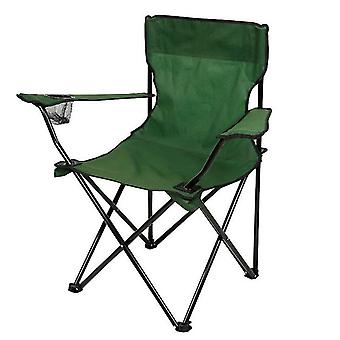 Green outdoor portable folding chair for camping barbecue picnic fishing travel az10630