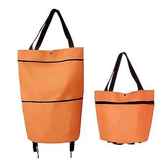 Shopping Trolley Bag Shopping Organizer Portable Bag Folding Shopping Bag On Wheels Bag Buy