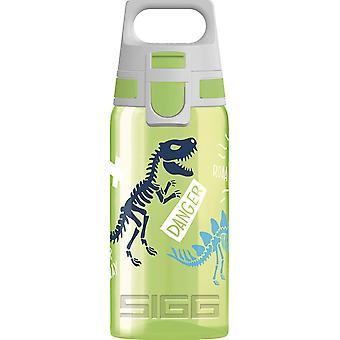 VIVA ONE Jurassica Kinder Trinkflasche (0.5 L), schadstofffreie Kinderflasche mit auslaufsicherem