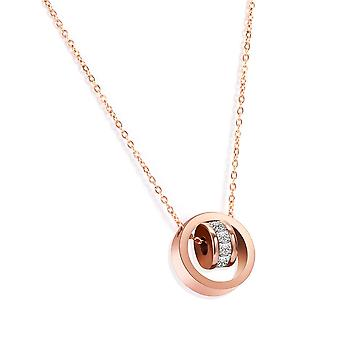 Orbit Pendant & Earring Set täckt med kristaller från Swarovski Rose - 2 Pack