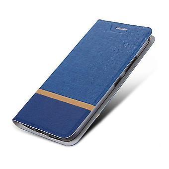 Étui Protective PU Folio pour LG G7 ThinQ Blue