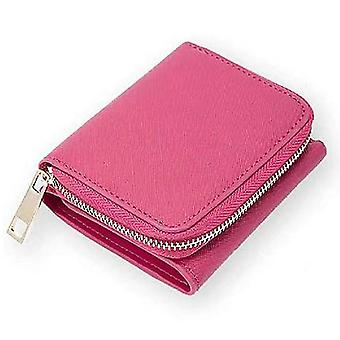 Leather ladies wallet short multi-card position first layer cowhide(Color-1)