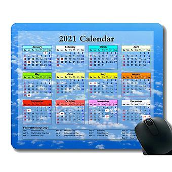 (260x210X3) Herní podložka pod myš 2021 Rok Kalendář s dovolenou, Satelitní vesmírná loď Stanice