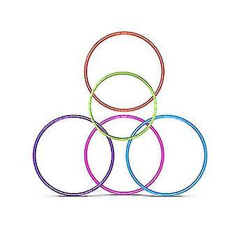 7 knob sammenklappelig Hula Hoop 65cm Fitness Motion Gym Workout Hoola for børn (Pink)