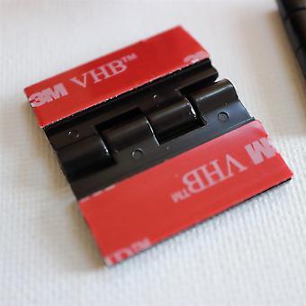 10x Bisagras acrílicas negras– No se requiere pegamento, autoadhesivo. Plástico Negro 32mm