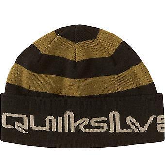 Quiksilver Unisex Adults Panwaffle Warm Winter Jacquard Stripe Beanie - Black