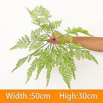 Artificial plant wall accessories eucalyptus grass plastic ferns green leaves fake flower plant wedding home table decoration
