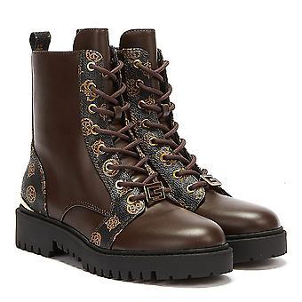 GUESS أومالا المرأة البني الداكن / أحذية براون