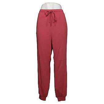 Modern Soul Women's Plus Pants Modern Knit Joggers Pink 689729