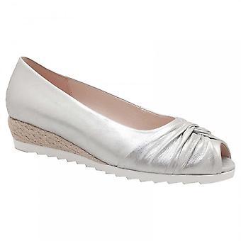 Gabor Peep Toe Low Heel Court Shoe