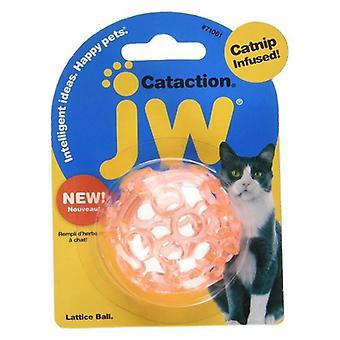 JW Pet Cataction Catnip Infused Lattice Ball Cat Toy  - 1 count