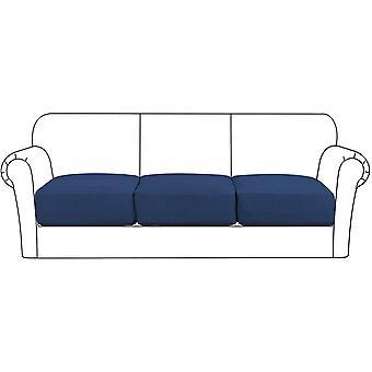 Housse de coussin de siège extensible haut canapé coussin protecteur de meuble avec fond élastique pour 1/2/3 places, marine